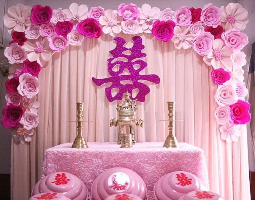 Xem cách tự trang trí bàn thờ gia tiên trong ngày cưới