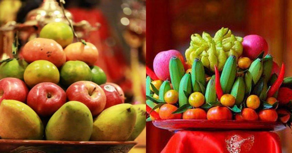 Lựa chọn loại trái cây để thiết kế mâm ngũ quả