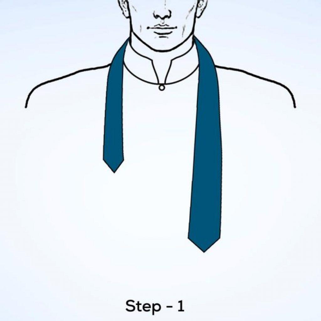 Cách thắt cà vạt tam giác
