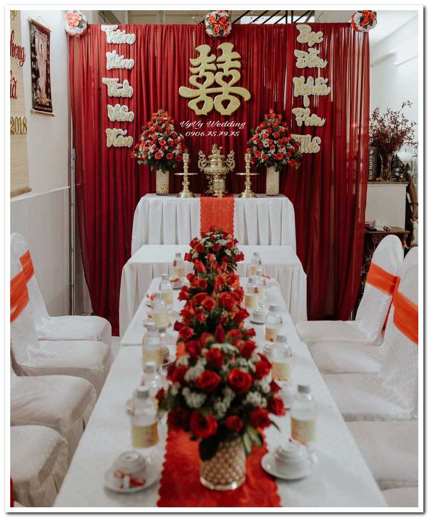 Trang trí cưới tại nhà nổi bật sang trọng