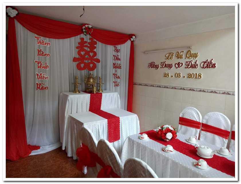 Trang trí cưới tại nhà