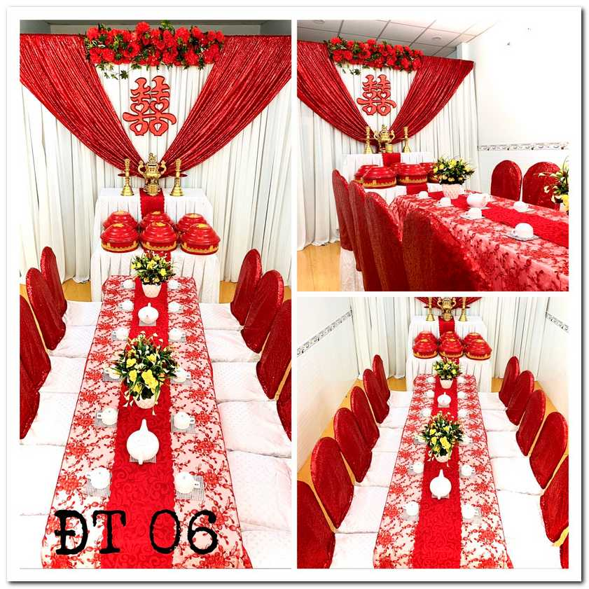 trang trí lễ đính hôn tại nhà