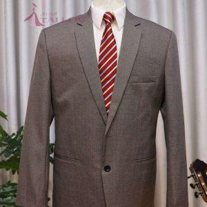 Áo vest nam màu nâu 2 nút
