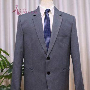 Áo vest nam màu xám ghi 2 nút