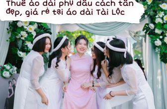 Thuê áo dài phụ dâu cách tân