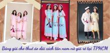 Bảng giá cho thuê áo dài cách tân nam nữ giá rẻ tại TPHCM